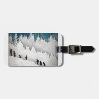 Snow Hike II Luggage Tag
