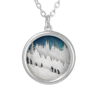 Snow Hike II Silver Plated Necklace
