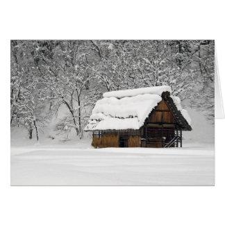 Snow Hut Card