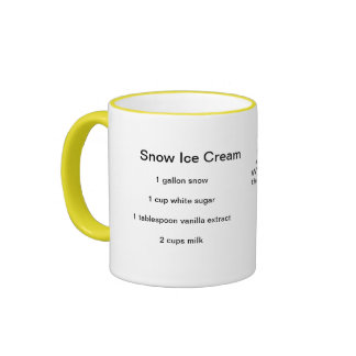 Snow Ice Cream recipe Mug