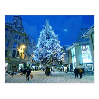 Snow in Cardiff Postcard