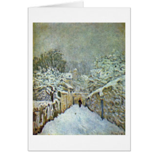 Snow In Louveciennes By Alfred Sisley Card