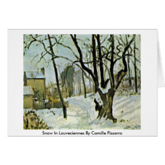 Snow In Louveciennes By Camille Pissarro Card