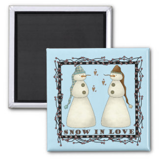 Snow In Love Christmas Magnet