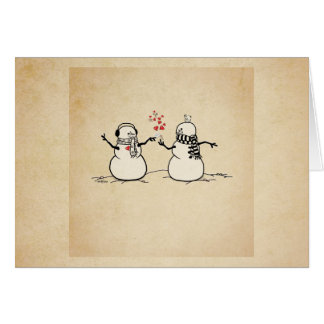 Snow in Love - love note Card