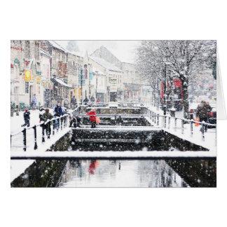Snow in Midsomer Norton, North Somerset, UK Card