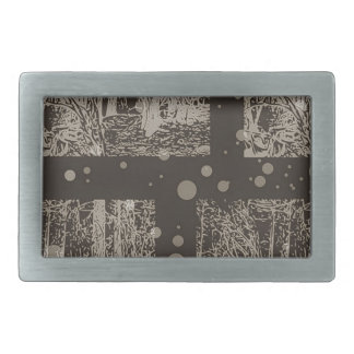snow in the forest design #1 rectangular belt buckles