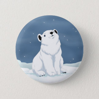 Snow is falling 2 inch round button
