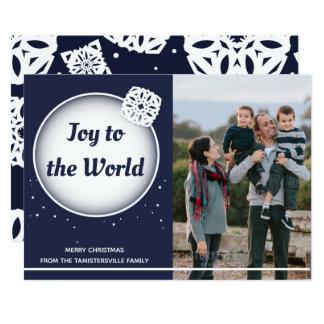 Snow Joy to the World   Christmas Flat Card