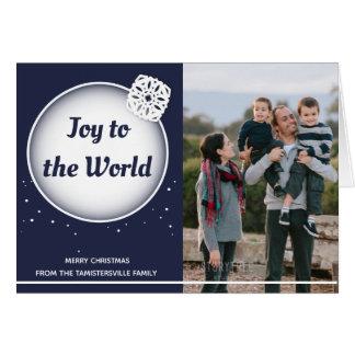 Snow Joy to the World | Folded Christmas Card