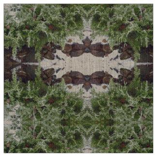 Snow Juniper Rocks Fabric