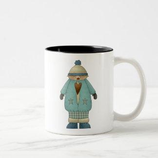 Snow Kids · Boy in Teal Two-Tone Coffee Mug