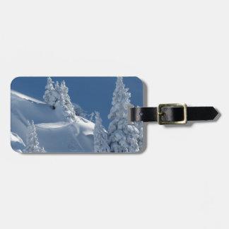 Snow Landscape Luggage Tag