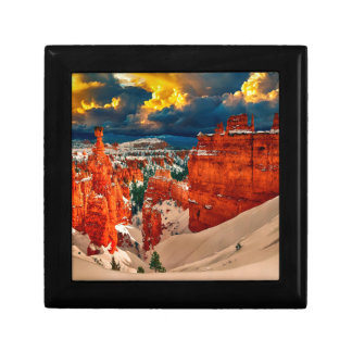 Snow landscape winter cold nature gift box