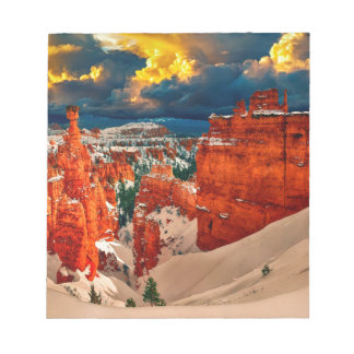 Snow landscape winter cold nature notepad