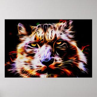 Snow Leopard 01 - Digital Art Poster