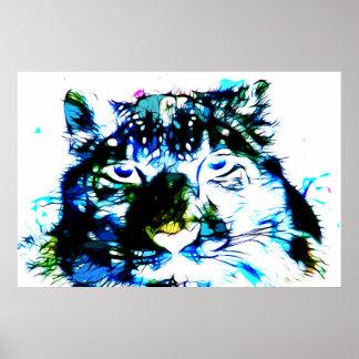 Snow Leopard 03 - Digital Art Poster