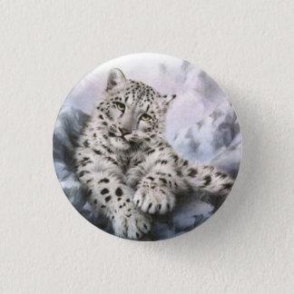 Snow leopard 1 inch round button