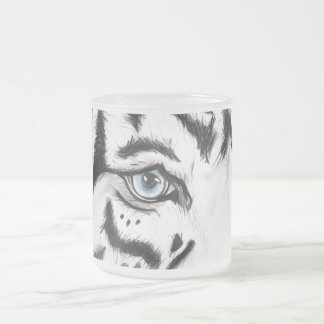 Snow Leopard 2 Frosted Glass Coffee Mug
