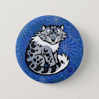 Snow Leopard 2 Inch Round Button