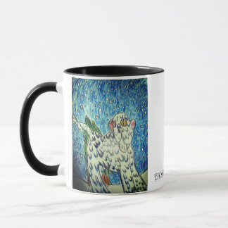 snow leopard art 1 mug