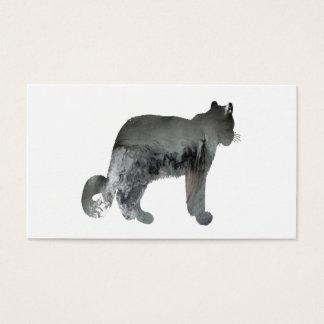 Snow leopard art business card