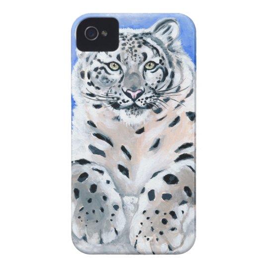 Snow Leopard Art iPhone 4 Cases