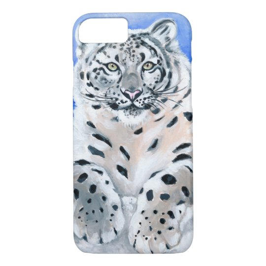 Snow Leopard Art iPhone 7 Case