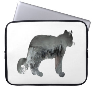 Snow leopard art laptop sleeve