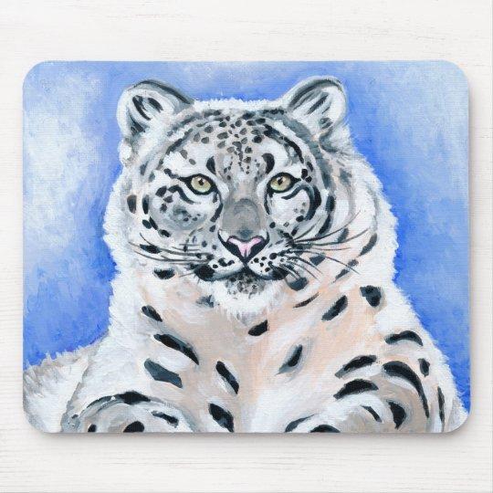 Snow Leopard Art Mouse Pad