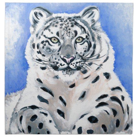 Snow Leopard Art Napkin