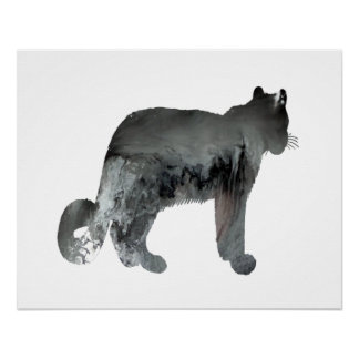 Snow leopard art perfect poster