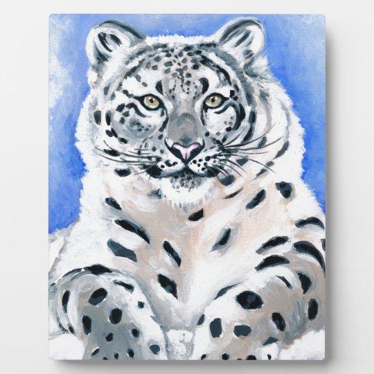 Snow Leopard Art Plaque