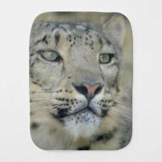 snow leopard baby burp cloth