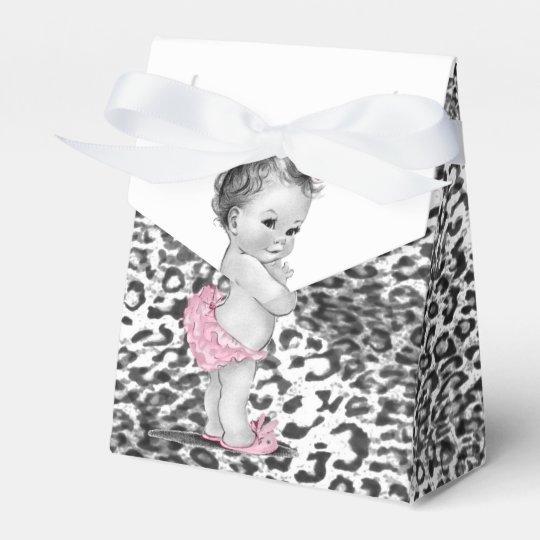 Snow Leopard Baby Shower Favour Boxes
