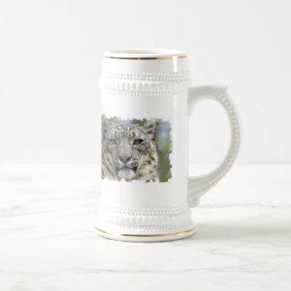 Snow Leopard Beer Stein
