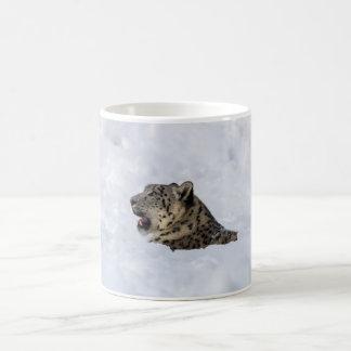 Snow Leopard Buried in Snow Coffee Mug