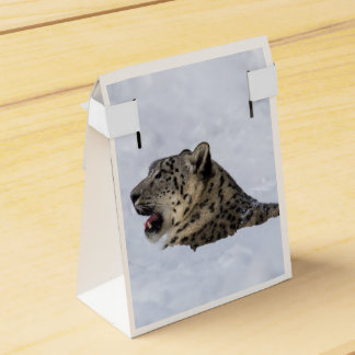 Snow Leopard Buried in Snow Favor Box