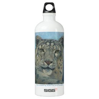 """""""Snow Leopard"""" by Susan Fox Water Bottle"""