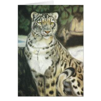 """Snow Leopard"" Card"