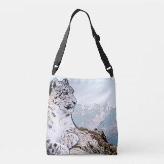 Snow Leopard Crossbody Bag