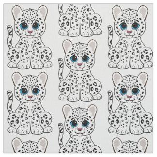 Snow Leopard Cub Fabric