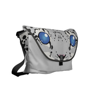 Snow Leopard Cub Messenger Bag
