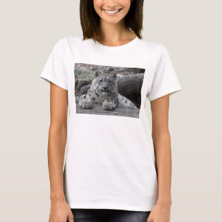 Snow Leopard Cub Sitting T-Shirt
