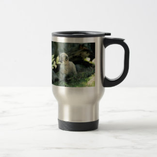 Snow Leopard Cub Travel Mug