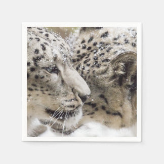 Snow Leopard Cuddle Disposable Napkin