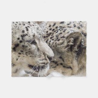 Snow Leopard Cuddle Fleece Blanket