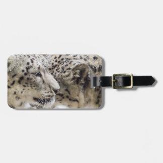 Snow Leopard Cuddle Luggage Tag