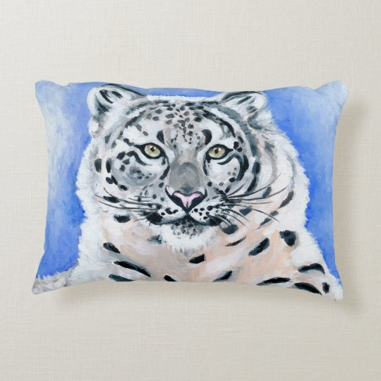 Snow Leopard Decorative Pillow