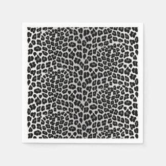 Snow leopard disposable napkins